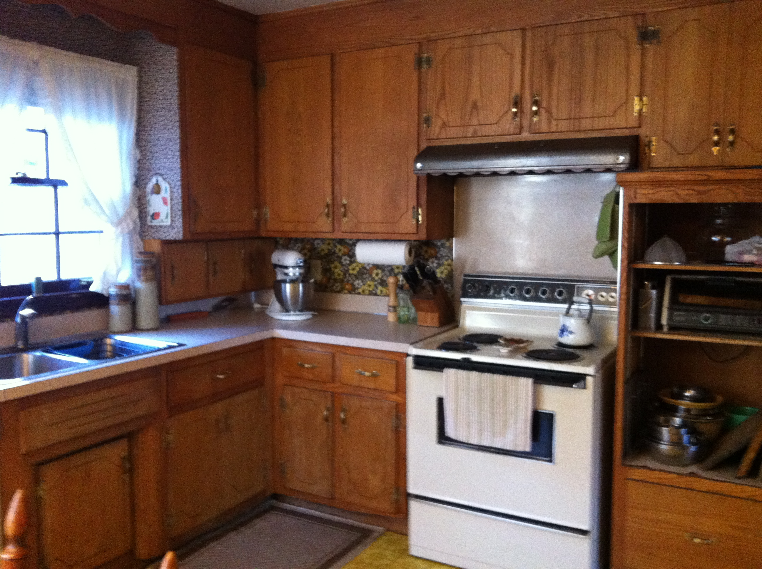Old knotty pine kitchen cabinets images for Knotty pine kitchen cabinets